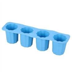 Hình ảnh 4 Cell Frozen Ice Mould Fits for DIY Drink Ice Sucker Ice Cream Tools - intl (Blue)