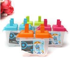 Hình ảnh 4 ngăn đông Pop Lolly Khuôn Làm Kem Chống Trượt Nhà TỰ LÀM Máy Làm Popsicle Sữa Chua Khuôn Mẫu Mới-quốc tế