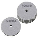 4 Inch Sponge Polishing Pad 6000 Grit Type1 Set of 5 Green - intl