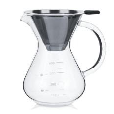Hình ảnh 400ml Glass Hand Drip Coffee Maker Filter Pot with Scale - intl