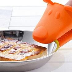 Hình ảnh 4pcs Cute Puppy Silicone Insulation Pad High Temperature Anti-hot Glove Oven Special Glove Kitchen Accessories - intl