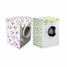 Hình ảnh Áo Trùm Máy Giặt Cửa Trước 7-8kg Loại Dày Họa Tiết Hoa
