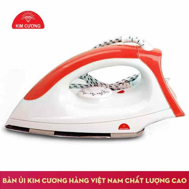 Bàn ủi khô KIM CƯƠNG đế chống dính T-602 (Đỏ)
