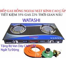 Giá Bán Bep Ga Hồng Ngoại Cao Cấp Bếp Gas Watashi Tiet Kiệm Gas 35 0466 Tặng Bộ Van Day Watashi Mới
