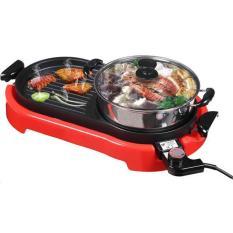 Hình ảnh Bếp lẩu nướng điện Electric Grill M-898A- (Tặng kèm Nồi Inox)