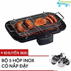 Hình ảnh Bếp nướng điện không khói 2000W Barbecue Grill EBG-2K Tặng bộ 5 hộp Inox có nắp