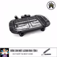 Hình ảnh Bếp nướng không khói Electric barbecue grill 2000W tặng kèm dụng cụ gắp nóng