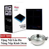 Mua Bếp Điện Từ Magic Korea A46 Tặng Nồi Lẩu Nắp Kinh 24Cm Magic