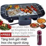 Giá Bán Bếp Vỉ Nướng Điện Cao Cấp Khong Khoi Barbecue Grill 2000W Tặng Kem Binh Giữ Nhiệt Inox Rẻ Nhất