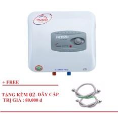 Giá Bình nước nóng chống giật Rossi R20Ti Trắng - Tặng 02 dây cấp inox lắp bình