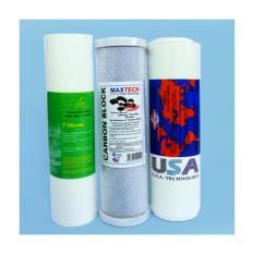 Hình ảnh Bộ 3 lõi lọc nước số 1, 2, 3 dùng cho máy lọc nước RO