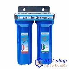 Bộ lọc nước sinh hoạt 2 cấp lọc 10 inch (PP+CTO)  xanh