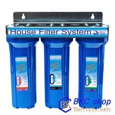 Hình ảnh Bộ lọc nước sinh hoạt 3 cấp lọc 10 inch (xanh)