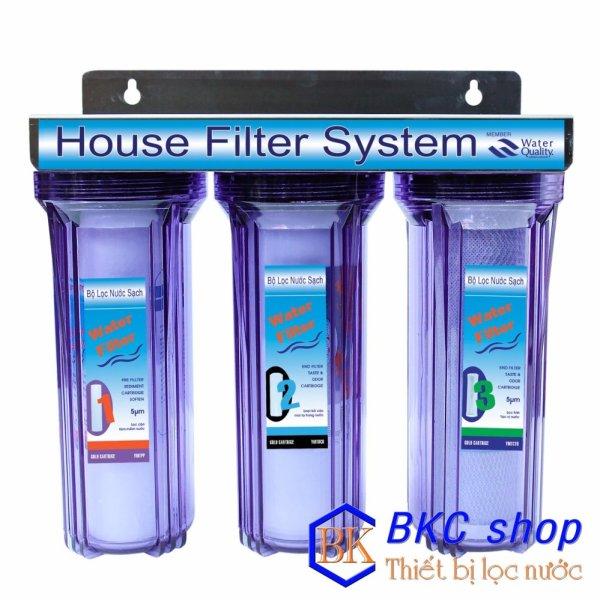 Bảng giá Bộ lọc nước sinh hoạt 3 cấp lọc 10 inch (xanh trong) Điện máy Pico