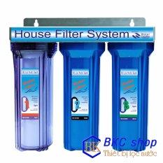 Hình ảnh Bộ lọc nước sinh hoạt 3 cấp lọc 10 inch (xanh trong – xanh)