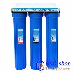 Hình ảnh Bộ lọc nước sinh hoạt 3 cấp lọc 20 inch (xanh)