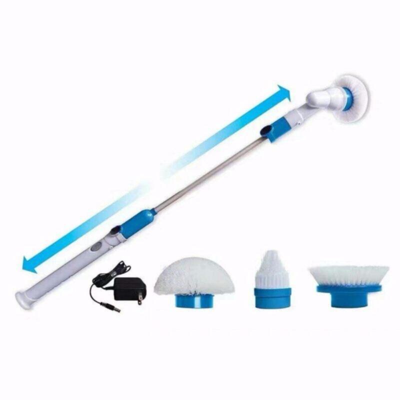 Chổi điện thông minh lau nhà cửa, phòng vệ sinh xoay 360 độ (Trắng) + Tặng kẹp chống muỗi tinh dầu