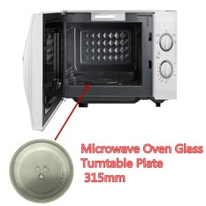 Hình ảnh Clear Microwave Oven Turntable Glass Tray Glass Plate Accessories Dia: 31.5cm - intl