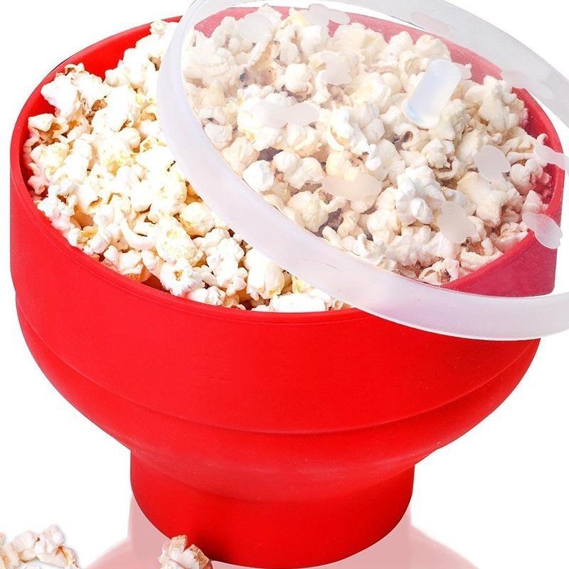 Cocotina fashionable microwave folding popcorn bucket red