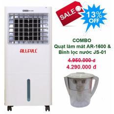 Bảng giá Combo máy làm mát Allfyll Thái Lan AR-1600 + Bình lọc nước mini JS-01