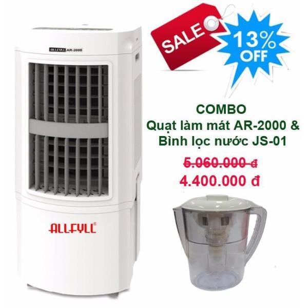 Bảng giá Combo máy làm mát Allfyll Thái Lan AR-2000 + Bình lọc nước mini JS-01