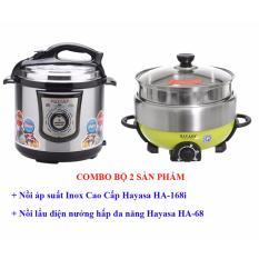 Hình ảnh COMBO Nồi áp suất Hayasa HA-168i + lẩu điện nướng Hayasa HA-68