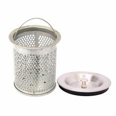 Hình ảnh Combo rọ rác và nắp đậy bồn rửa bát inox đẹp