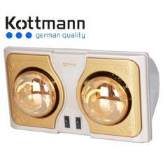 Đèn sưởi Kottmann 2 bóng vàng K2B-H