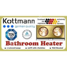 Đèn sưởi nhà tắm Kottmann - 2 bóng Làm Nóng Tăng Nhiệt Độ Giữ Âm Cho Phòng Tắm Vào Mùa Đông