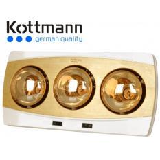 Hình ảnh Đèn sưởi nhà tắm Kottmann 3 bóng dòng vàng