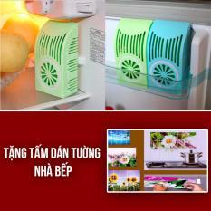 Hình ảnh Dụng cụ khử mùi tủ lạnh than hoạt tính + Tặng kèm miếng dán bếp hình hoa, trái cây