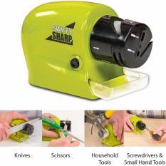 Hình ảnh Dụng cụ mài dao & kéo đa năng dùng pin Swifty Sharp (Xanh) + Tặng hộp đựng tăm bằng nhựa cao cấp VegaVN