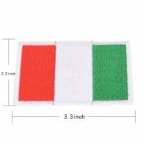 Thêu May Sắt Trên Miếng Dán Cường Lực Quốc Gia Cờ Huy Hiệu Chuyển Vải Vải Táo Ý 8.5 cm * 5.6-quốc tế