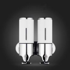 Hình ảnh Hotel Shower Manual Dispenser Household Stainless Steel Washing Liquid Shampoo Soap Bottle, Capacity: 1000ml (White) - intl