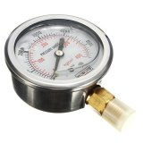 Hydraulic Liquid Filled Pressure Gauge Measuring 0-5000 PSI Brass 1/4 NPT Male - intl