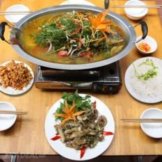 Hình ảnh Khay cá om dưa inox 50x31cm dùng được cho bếp từ