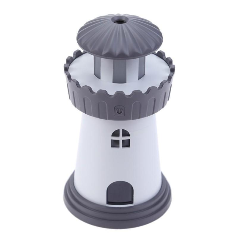 Bảng giá Ngọn hải đăng Mini USB Siêu Âm Thanh Nhà Bàn Văn Phòng Máy Lọc Không Khí Máy Phun Sương Tạo Độ Ẩm (Đen)-quốc tế
