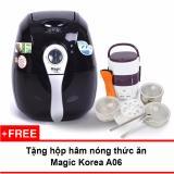 Giá Bán Lo Chien Nướng Chan Khong Magic Korea A71 2 2L Đen Tặng Hộp Nấu Va Ham Nong Cơm Lồng Inox 3 Tầng Tốt Nhất