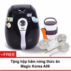Bán Lo Chien Nướng Chan Khong Magic Korea A71 2 2L Đen Tặng Hộp Nấu Va Ham Nong Cơm Lồng Inox 3 Tầng