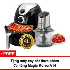 Hình ảnh Lò nướng chân không Magic Korea A78 4L (Đen) + Tặng máy xay thực phẩm Magic Korea