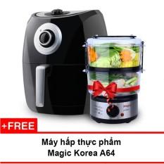Hình ảnh Lò nướng chân không Magic Korea A84 4.4L (Đen) + Tặng máy hấp thực phẩm Magic Korea
