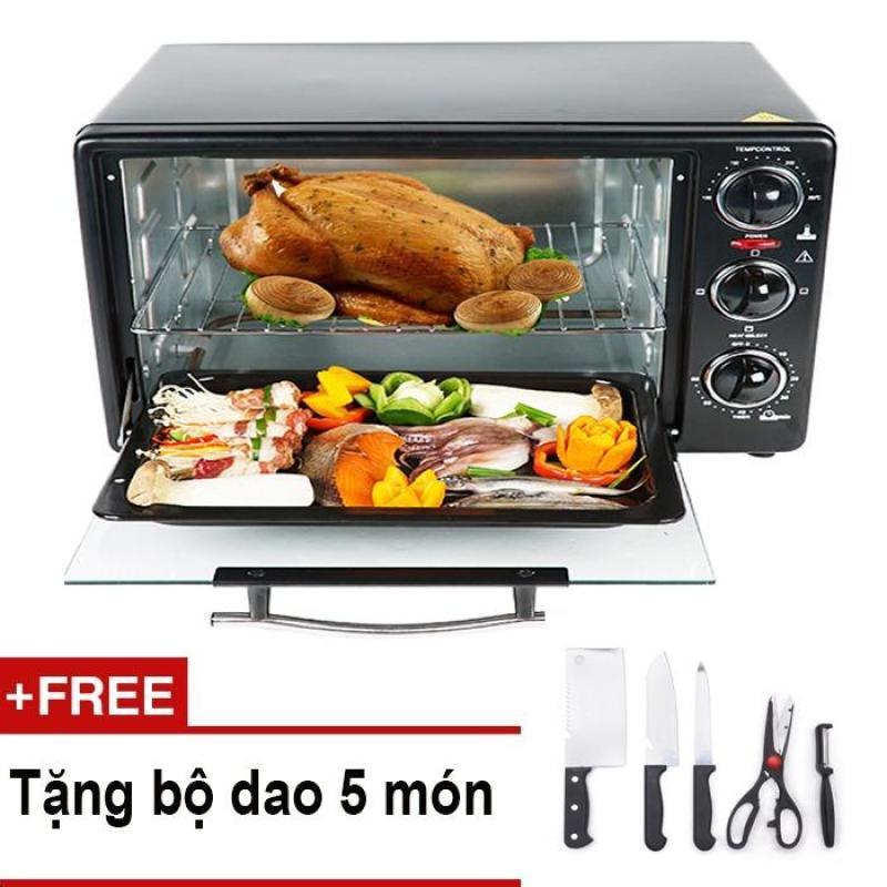 Bảng giá Lò nướng điện Mishio 26 lít + Tặng bộ dao làm bếp 5 món Điện máy Pico