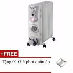 Lò sưởi dầu 11 thanh TIROSS TS-920 (Trắng) + Tặng 01 giá phơi quần áo