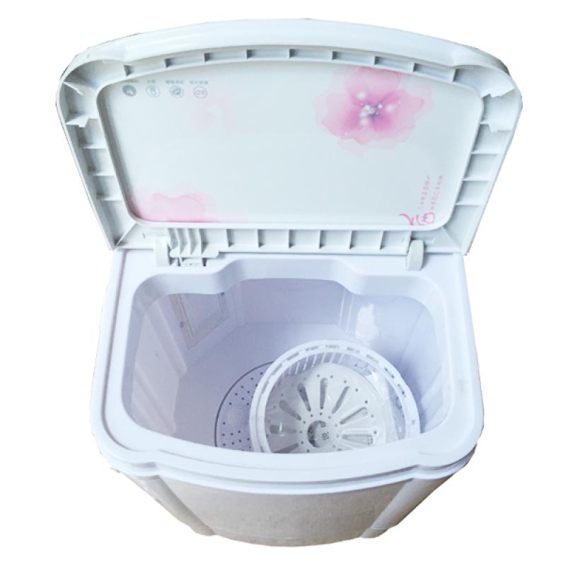 Máy Giặt Mini Gia Đình Cao Cấp CCC 5KG (Trắng hoa văn hồng)