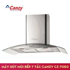 Hình ảnh Máy hút mùi bếp kính cong 7 tấc CANZY CZ-70D2 + Kèm Ống bạc giảm ồn lõi thép