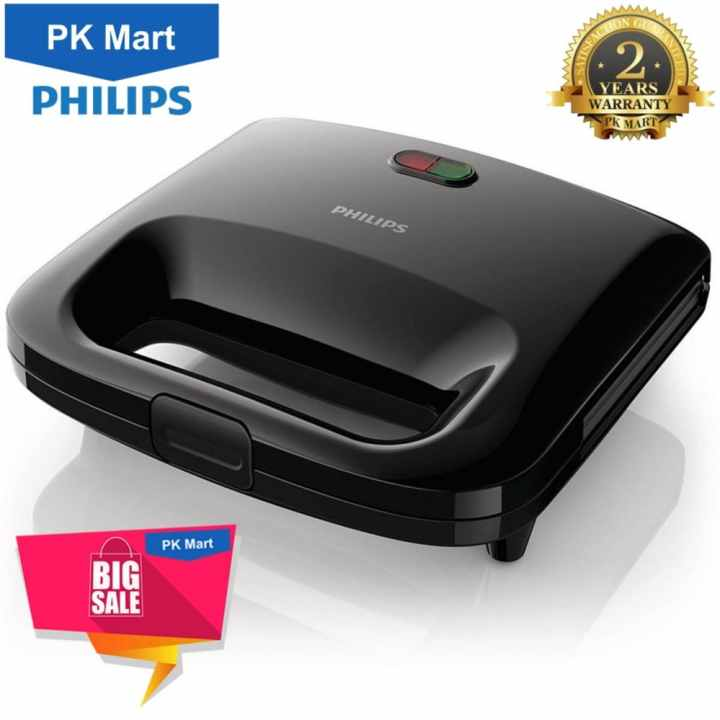 Máy làm bánh sandwich Philips HD2393 (Đen) - Hàng nhập khẩu