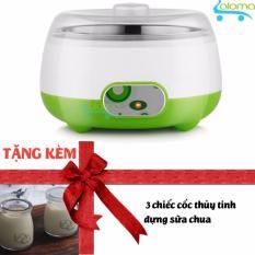 Hình ảnh Máy làm sữa chua mini lồng inox Yogurt Maker PA-102 tặng 3 cốc thủy tinh(Trắng)