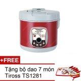 Giá Bán May Lam Tỏi Đen Tiross Ts906 Đỏ Mận Tặng 1 Bộ Dao 7 Mon Tiross Ts1281 Rẻ