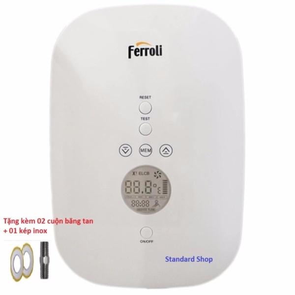 Máy nước nóng trực tiếp Ferroli Divo SDN 4.5S (Hiển thị điện tử) + tặng 02 cao su non, 01 kép inox Chất Lượng Cao