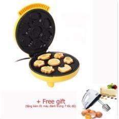 Hình ảnh Máy nướng bánh MG 7 khuôn_(Màu vàng) + Tặng kèm máy đánh trứng 7 tốc độ